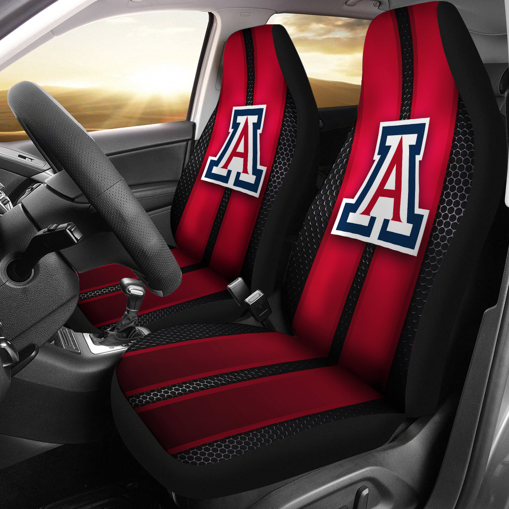 Incredible Line Pattern Arizona Wildcats Logo Car Seat Covers