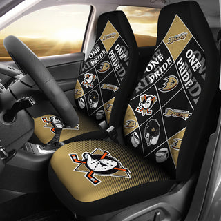 Pride Flag Anaheim Ducks Car Seat Covers