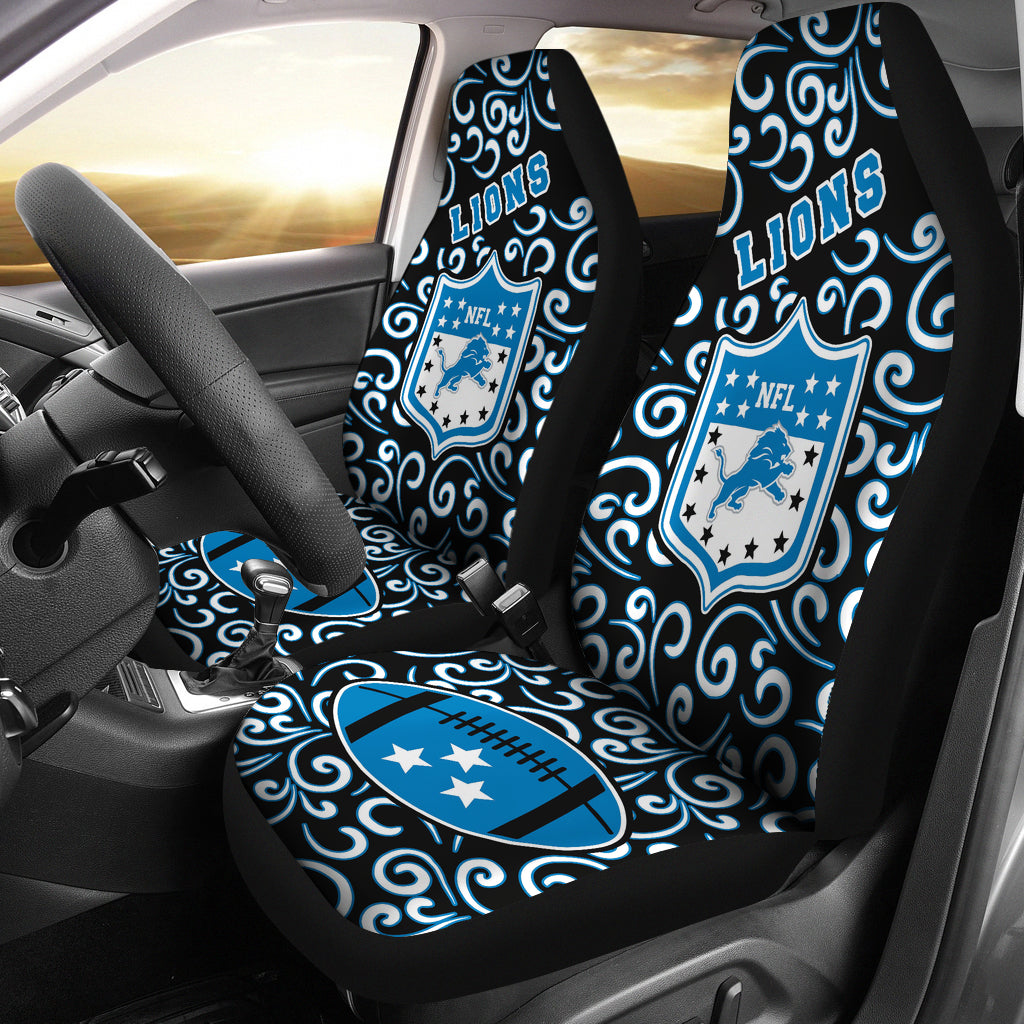 Artist SUV Detroit Lions Seat Covers Sets For Car