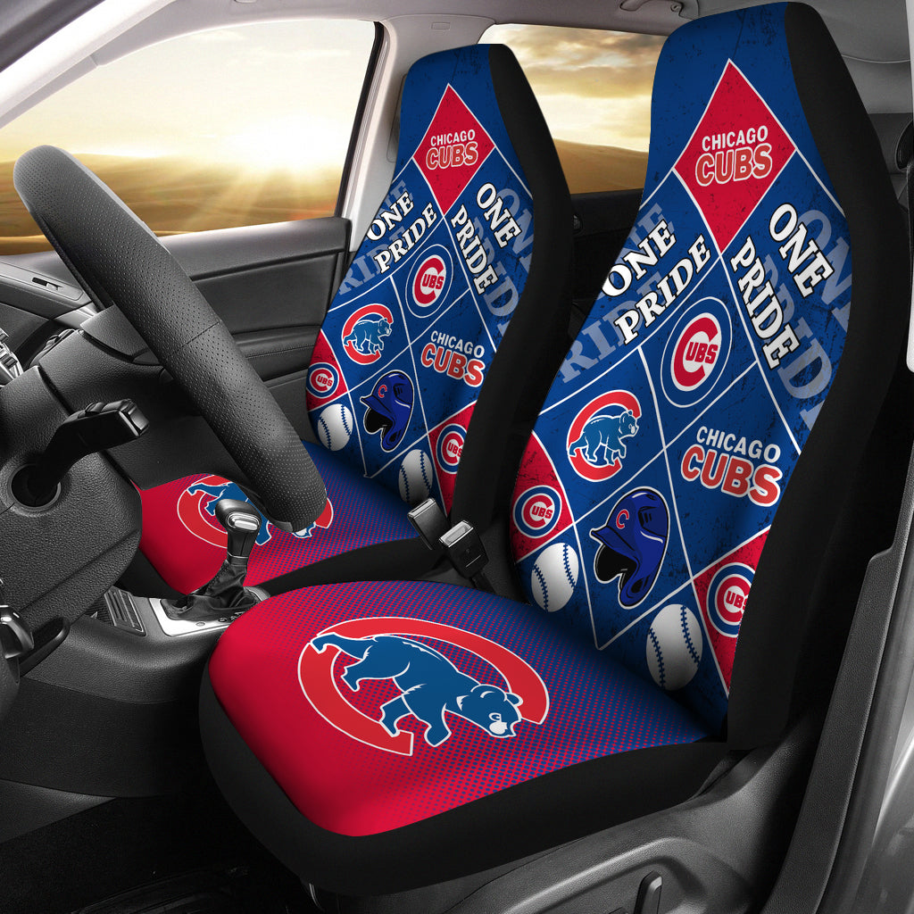 Pride Flag Chicago Cubs Car Seat Covers