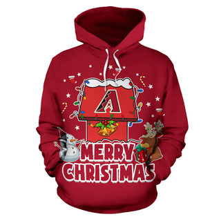 Funny Merry Christmas Arizona Diamondbacks Hoodie 2019