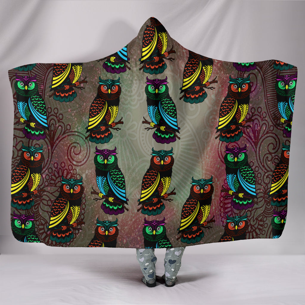 Decorative Owl Hooded Blankets