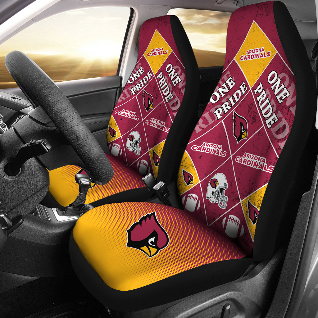 Pride Flag Arizona Cardinals Car Seat Covers