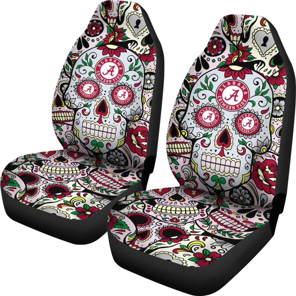 Sensational Party Skull Alabama Crimson Tide Car Seat Covers Ibusinesslaw Wood Chair Design Ideas Ibusinesslaworg