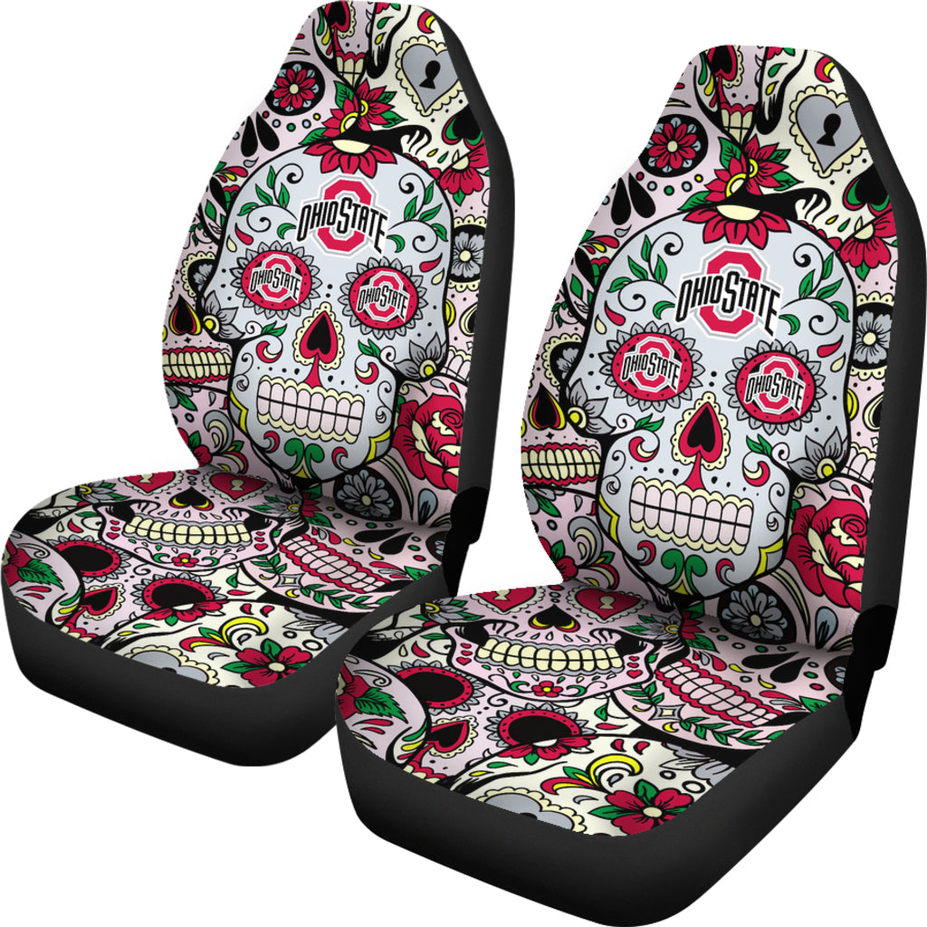 Party Skull Ohio State Buckeyes Car Seat Covers Best Funny Store