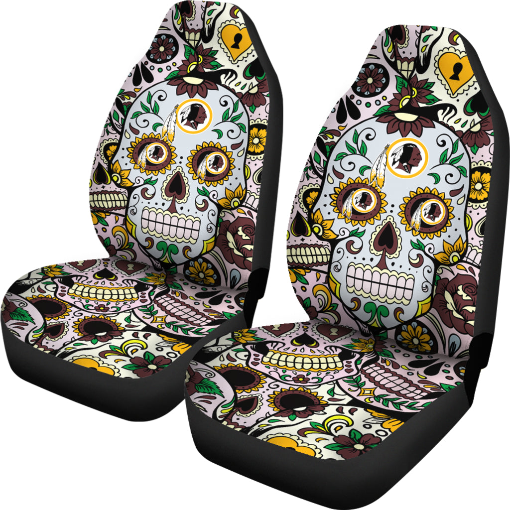 Wondrous Party Skull Washington Redskins Car Seat Covers Squirreltailoven Fun Painted Chair Ideas Images Squirreltailovenorg
