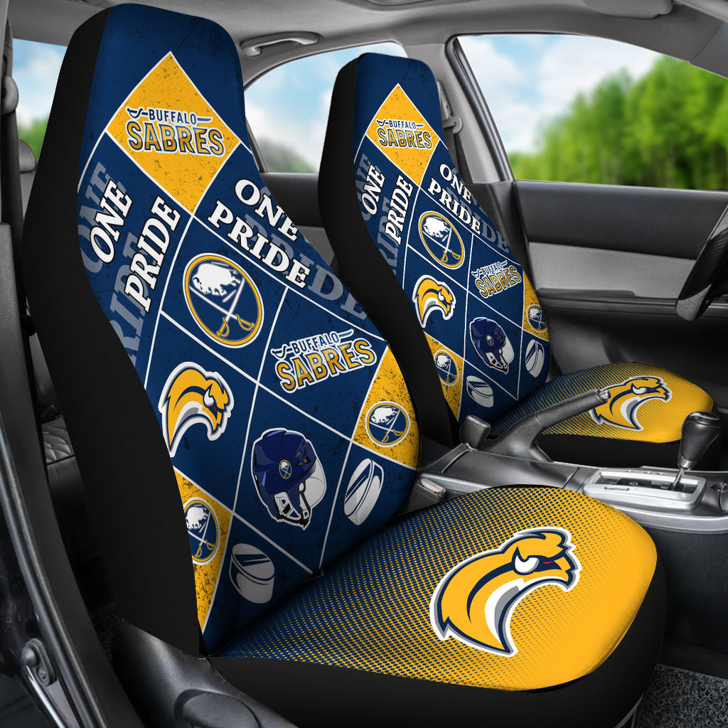 Pride Flag Buffalo Sabres Car Seat Covers