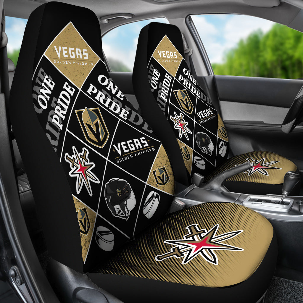 Pride Flag Vegas Golden Knights Car Seat Covers