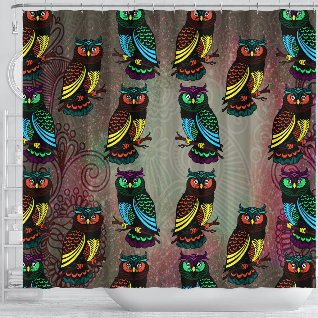 Decorative Owl Shower Curtains