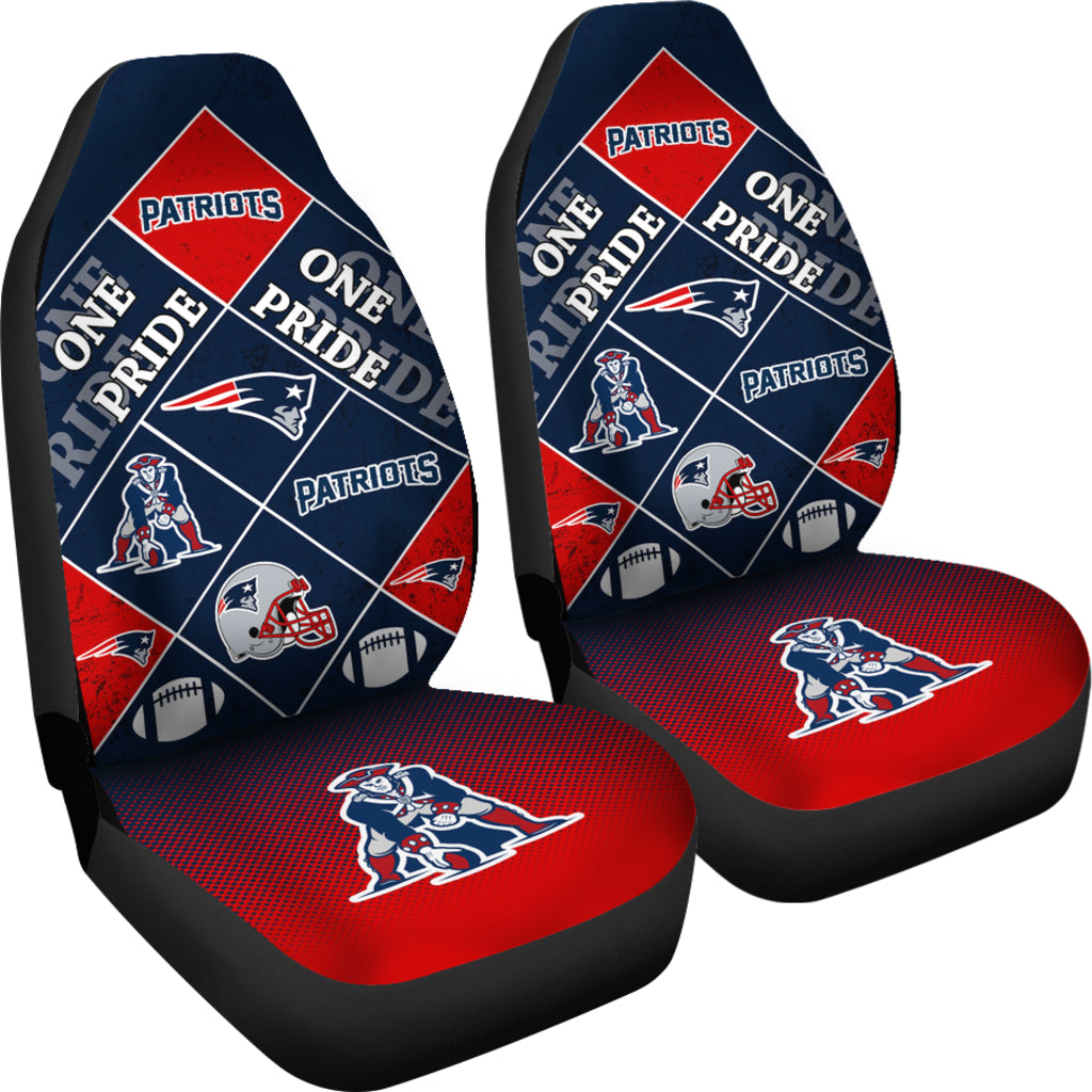 Pride Flag New England Patriots Car Seat Covers