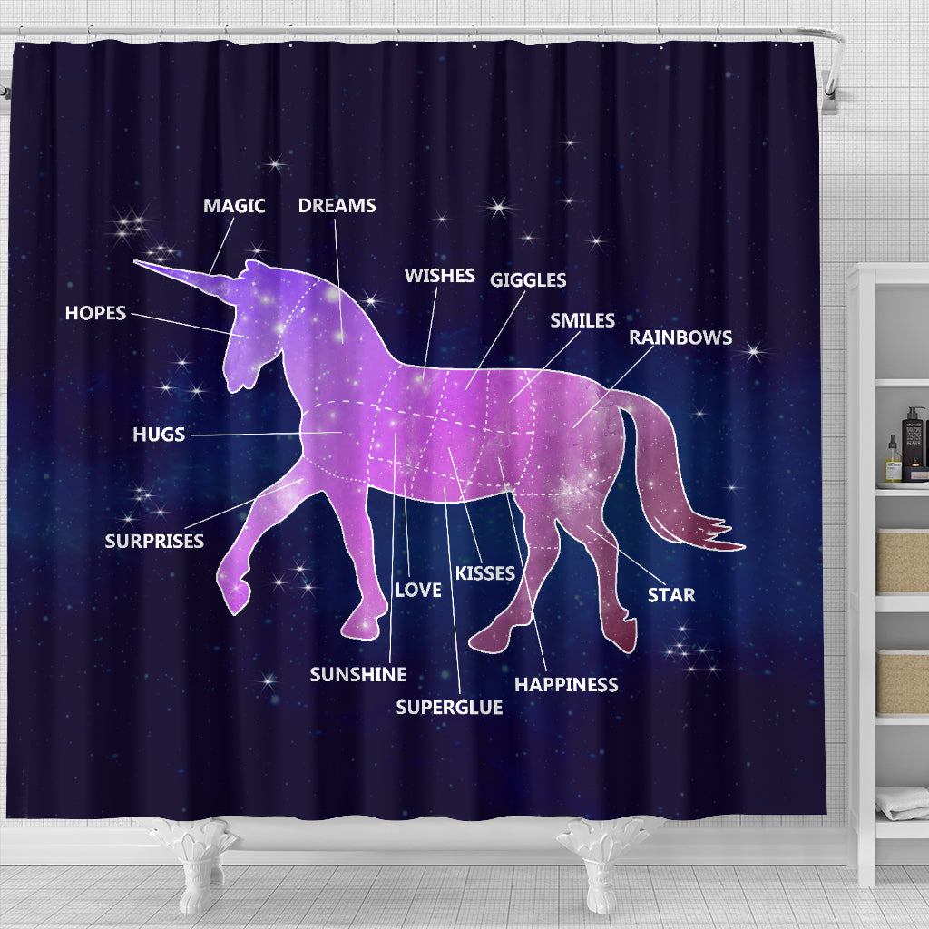 Unicorns Are Way Cooler Shower Curtains