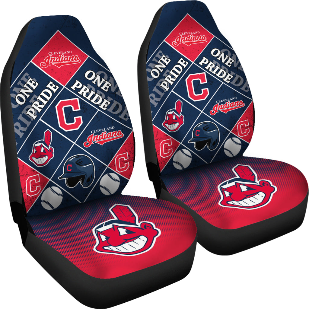 Pride Flag Cleveland Indians Car Seat Covers