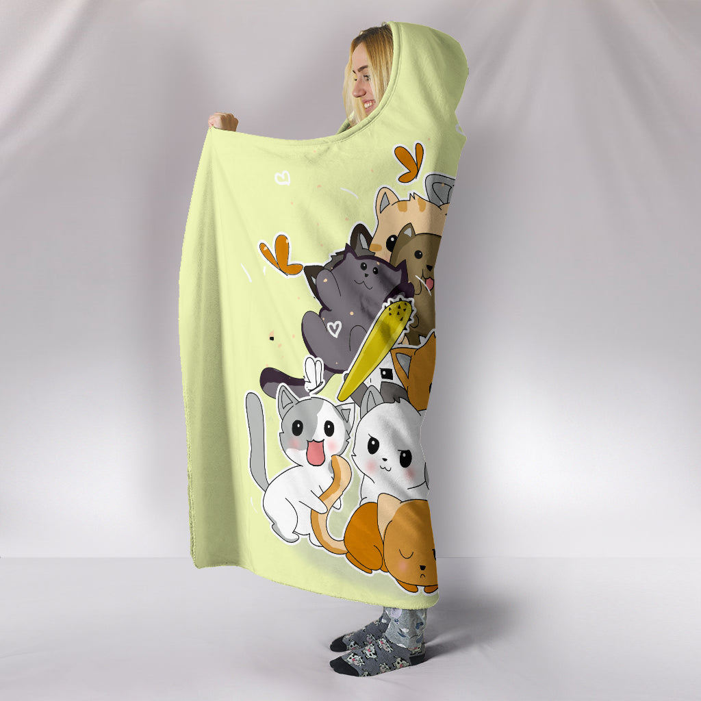 Never Be Enough Cat In My Life Cat Hooded Blankets