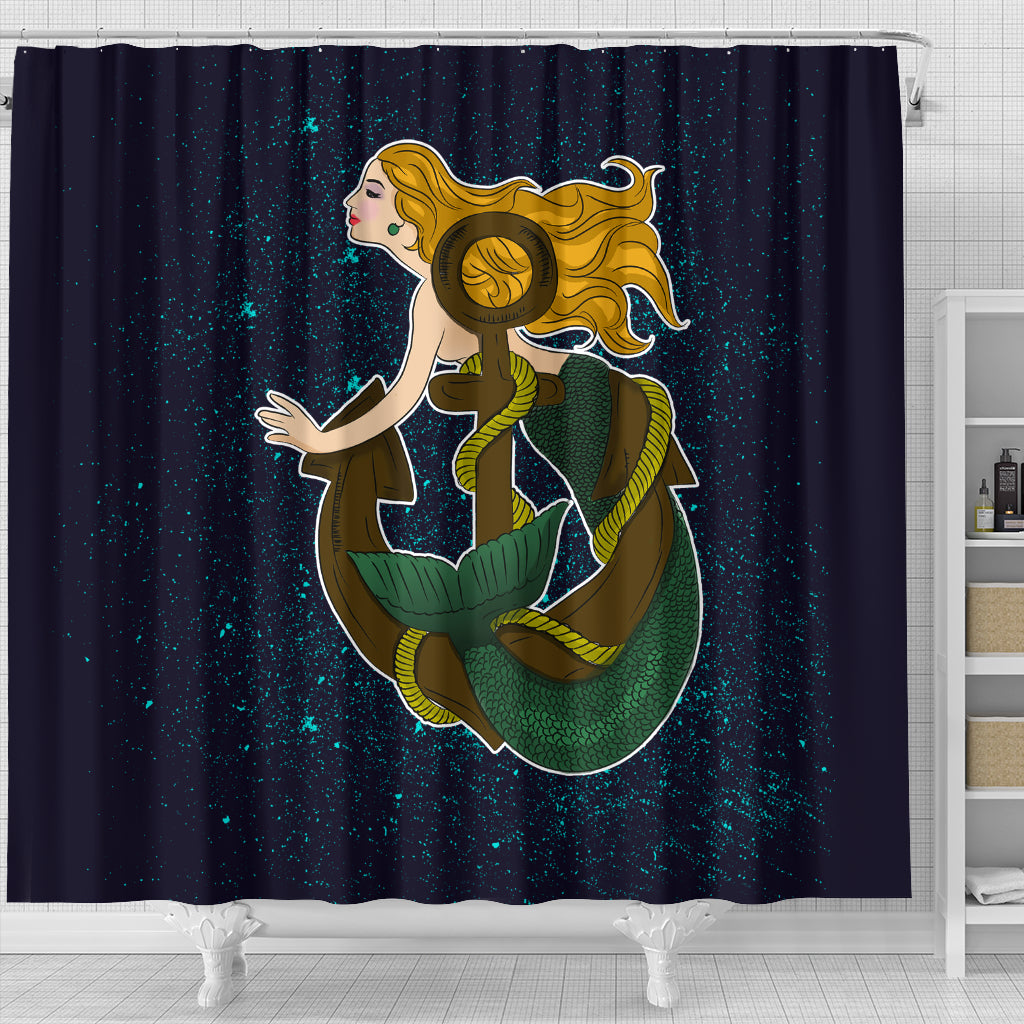 Soul Of A Mermaid Shower Curtains