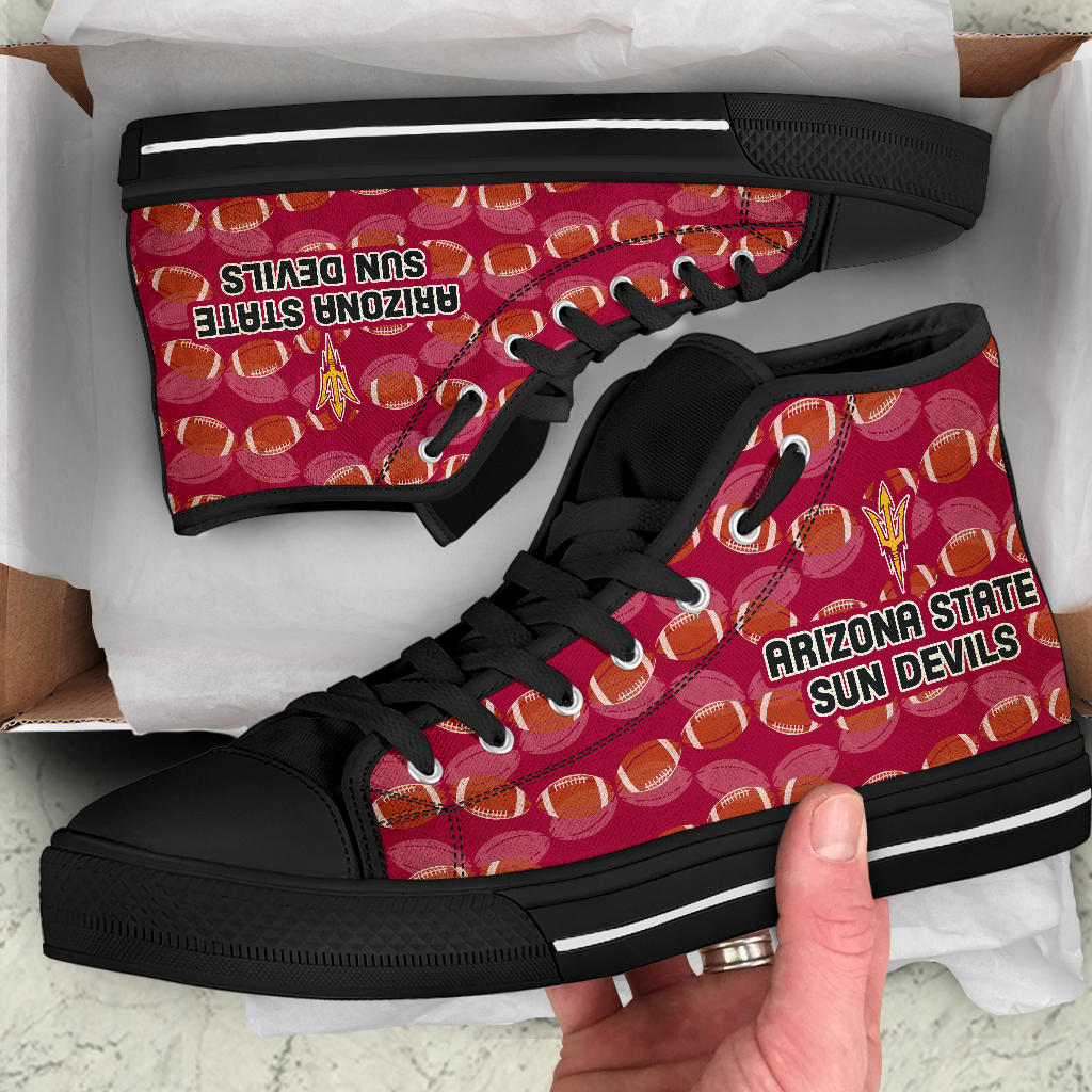 Wave Of Ball Arizona State Sun Devils High Top Shoes