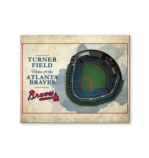 3D Graphics Atlanta Braves Stadium Canvas