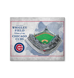 3D Graphics Chicago Cubs Stadium Canvas