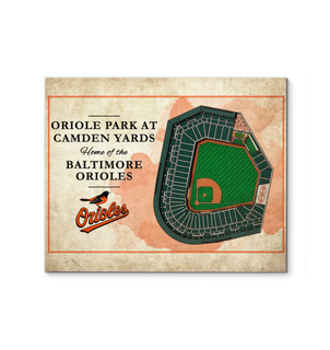 3D Graphics Baltimore Orioles Stadium Canvas