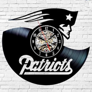 Home Decor Team New England Patriots Wall Clock Art