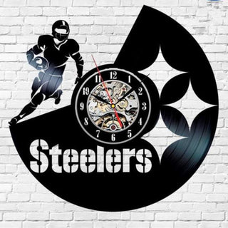 Home Decor Team Pittsburgh Steelers Wall Clock Art
