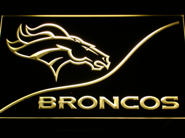 Denver Broncos LED Neon Sign with On/Off Switch 7 Colors Handled