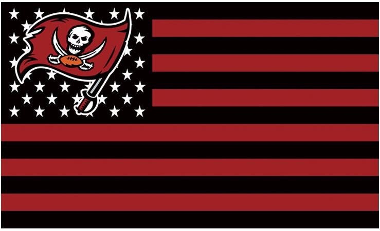 Fabulous Tampa Bay Buccaneers Flying Flag Black And Red Strip 90x150 C Best Funny Store