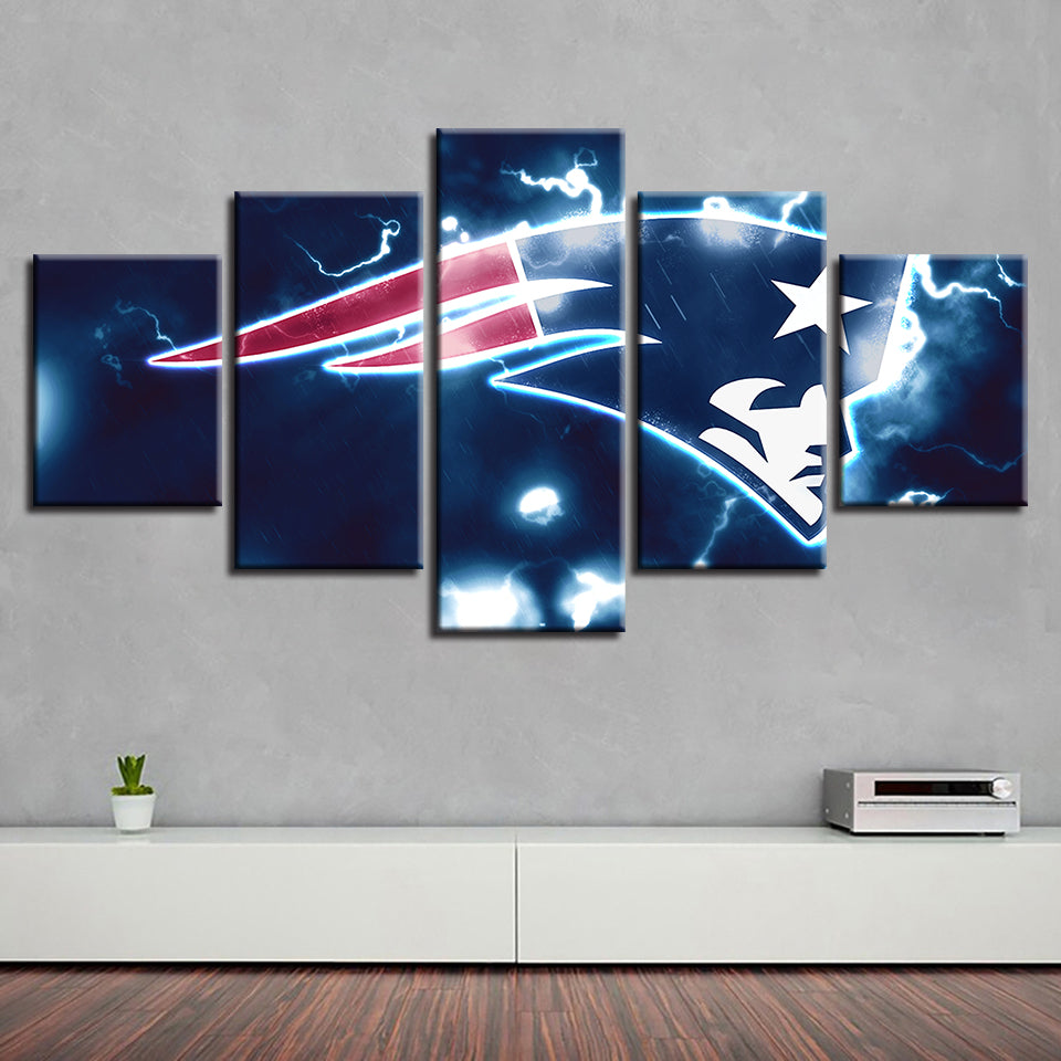 Home decor art 5 pcs new england patriots canvas painting prints wall best funny store