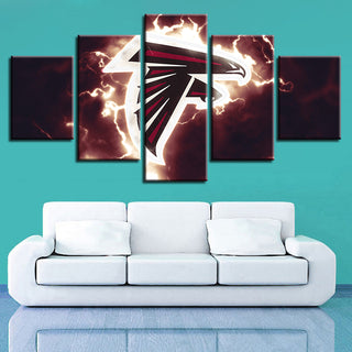 Home Decoration 5 Pcs Atlanta Falcons Canvas Painting Wall Art