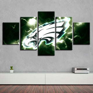 Home Decoration Canvas 5 Pcs Philadelphia Eagles New Spray Painting Prints Wall