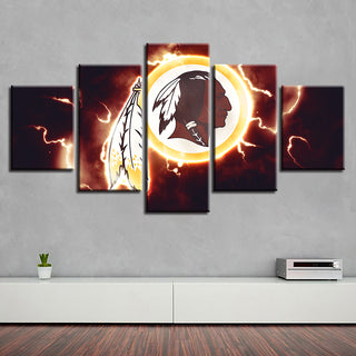 Canvas Home Decor 5 Pcs Washington Redskins Spray Painting Prints Wall Art