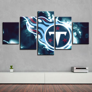 Home Decor 5 Pcs Tennessee Titans Canvas Painting Prints Wall Art Pictures