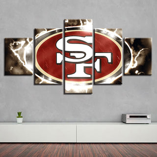 Home Decor 5 Pcs San Francisco 49ers Canvas Spray Wall Painting Prints