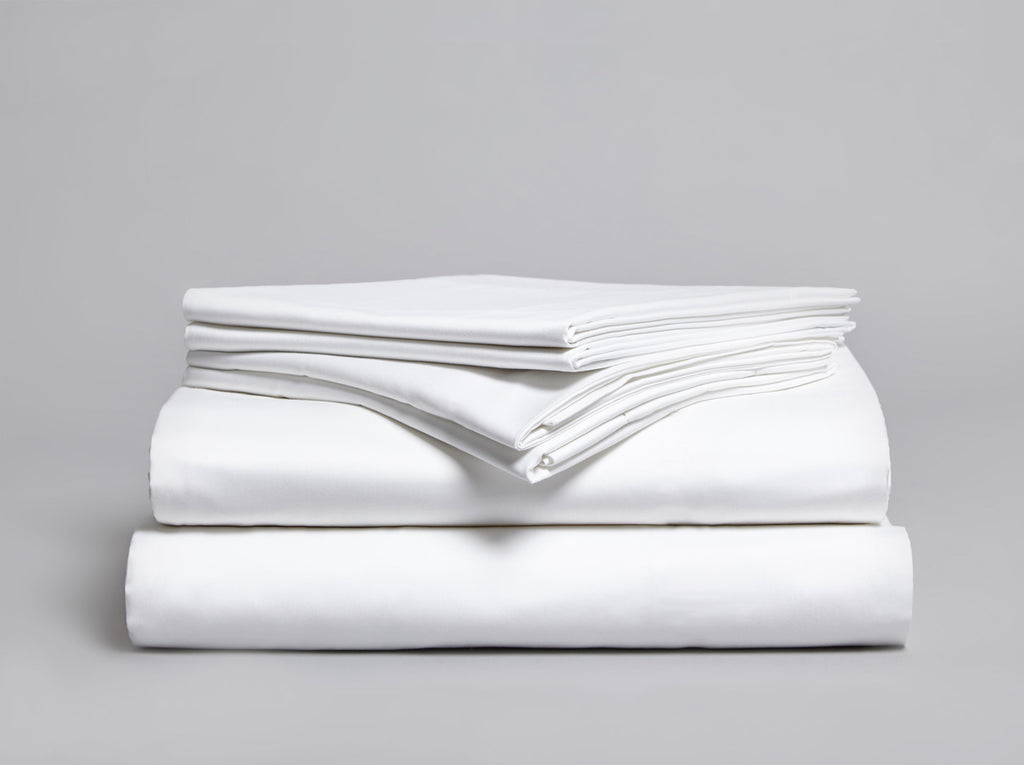 Percale 200 TC Flat Sheet White - Gailarde Ltd