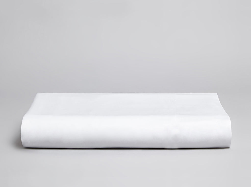 Percale 200 TC Fitted Sheet White - Gailarde Ltd