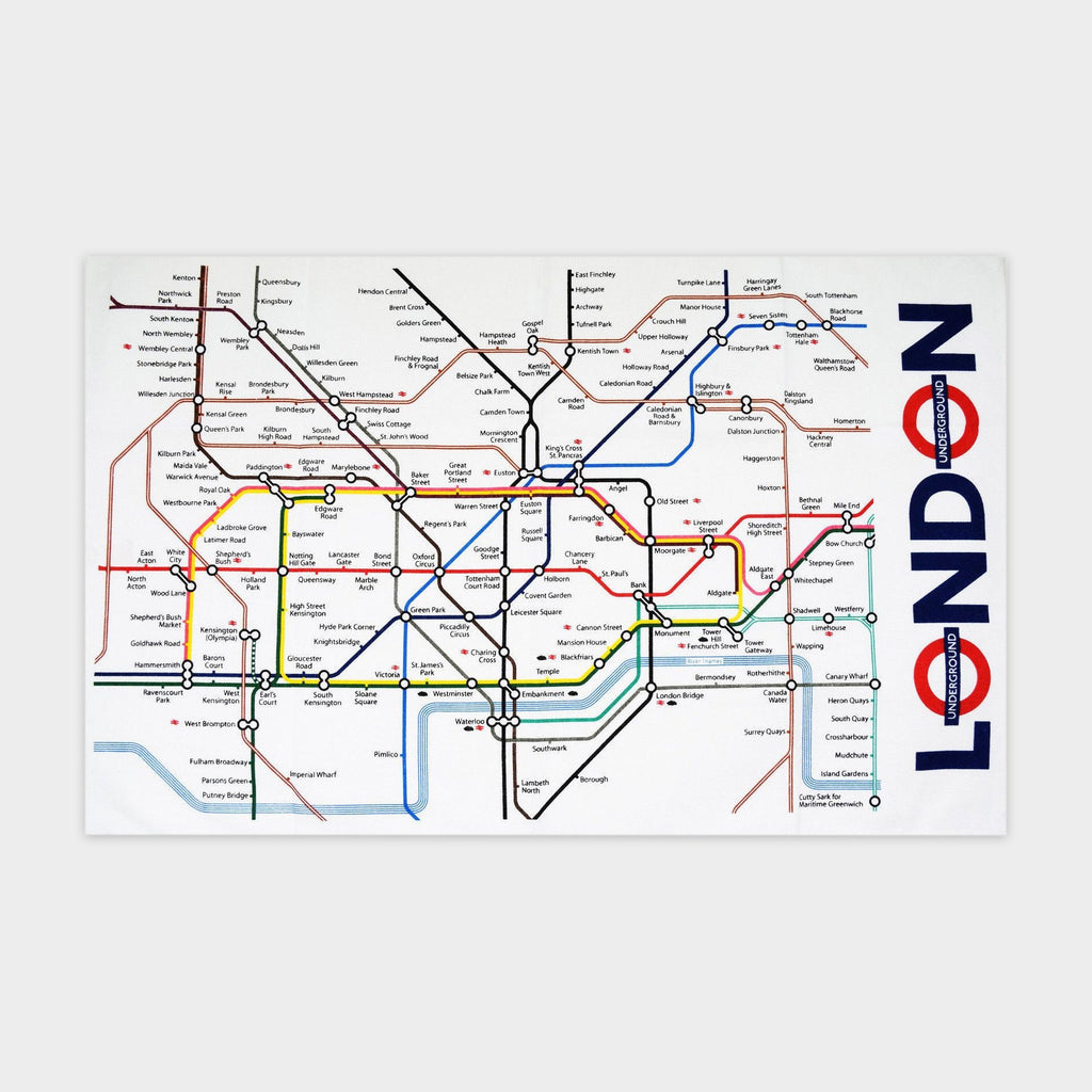 Tea Towel London Underground