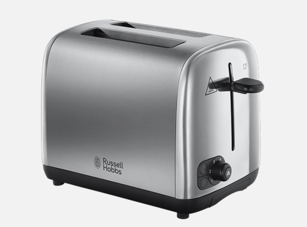 Toaster 2 Slice Russell Hobbs - Brushed Stainless Steel FH - Gailarde Ltd