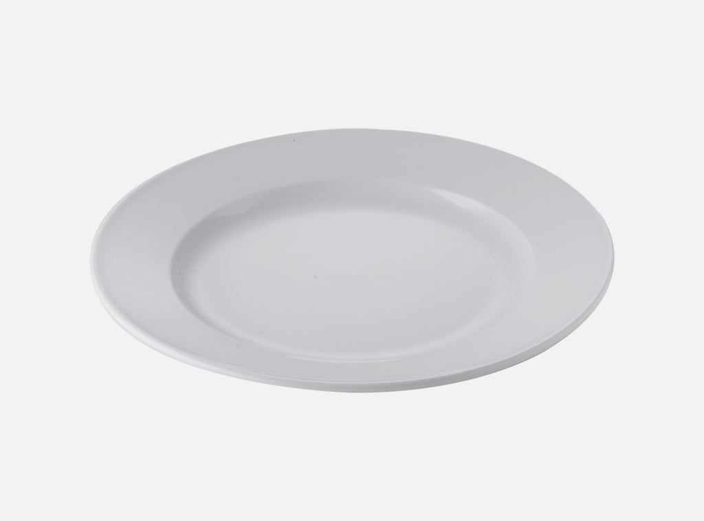 Side Plate Porcelain Winged Small 17cm - White (6pc) - Gailarde Ltd