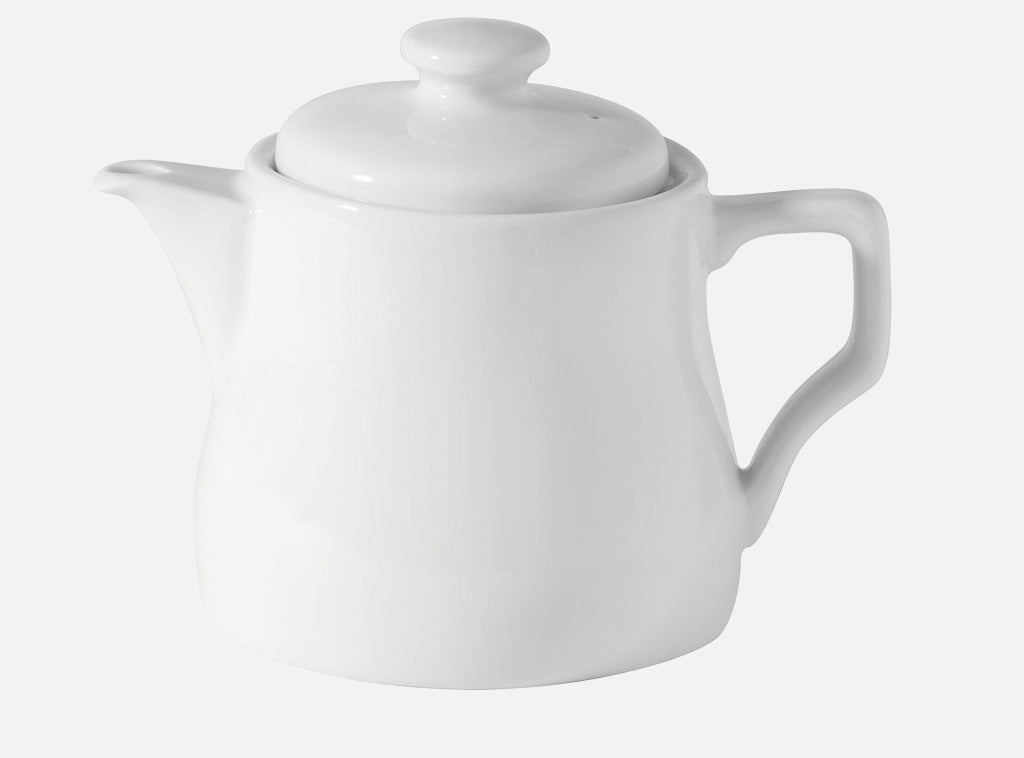 Teapot Porcelain 28oz - White FH - Gailarde Ltd