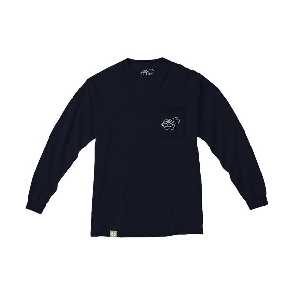 The Everyday Long Sleeve Tee in Navy