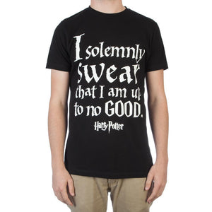 I Solemnly Swear That I Am Up To No Good Men's Black T-Shirt