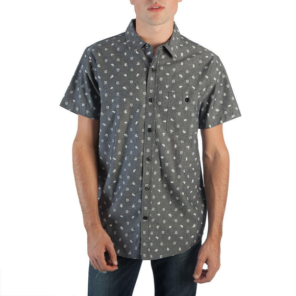 Harry Potter AOP Men's Woven Button Up Shirt