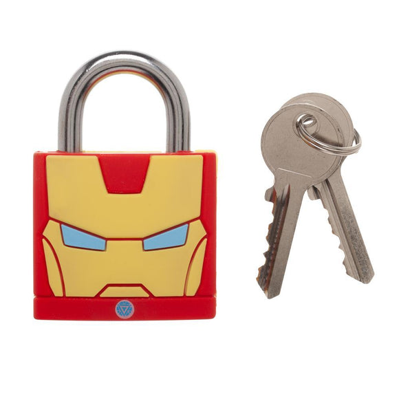 Marvel Comics Big Iron Man Face Large Padlock