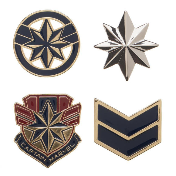 Captain Marvel Lapel Pin Set - 4-Pack