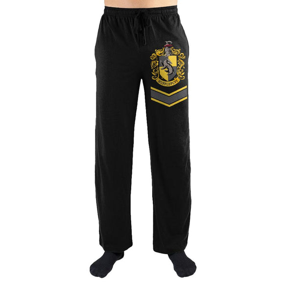Harry Potter Hufflepuff House Crest Print Men's Loungewear Lounge Pants Gift