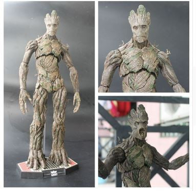 Groot Figure With Baby Groot Mural Painting