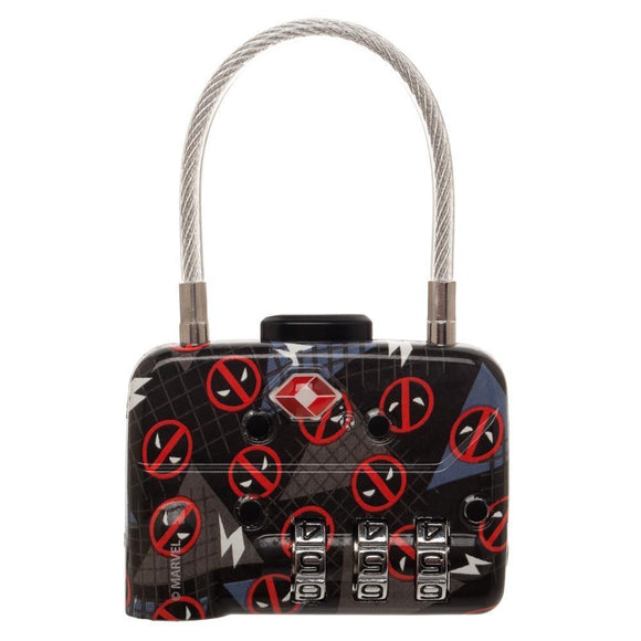Deadpool TSA Approved Travel Combination Cable Luggage Lock
