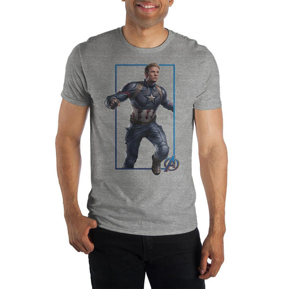 Mens Captain America Short Sleeve T-Shirt