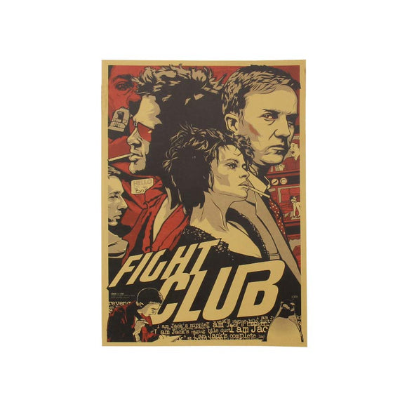 Fight Club | Vintage Kraft Paper Poster