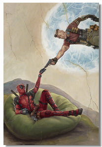 Creation Of Deadpool Movie Poster