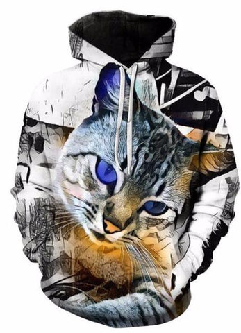 MOLETOM 3D CAT UNISEX